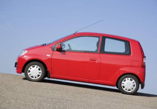 DAIHATSU Cuore hatchback czerwony jasny boczny lewy