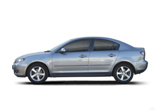 MAZDA 3 I sedan silver grey boczny lewy