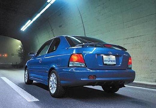 HYUNDAI Accent hatchback niebieski jasny tylny lewy