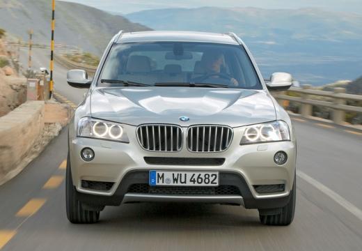 BMW X3 X 3 F25 I kombi silver grey przedni