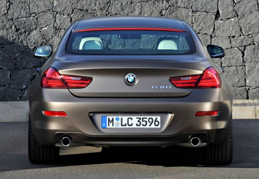 BMW Seria 6 Gran Coupe F06 I sedan silver grey tylny