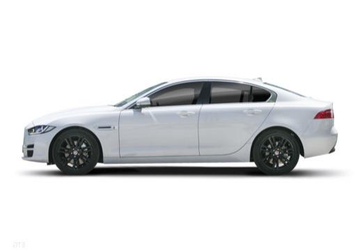 JAGUAR XE I sedan biały boczny lewy