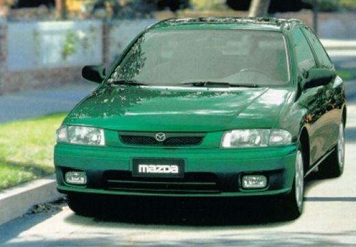 MAZDA 323 hatchback zielony przedni lewy