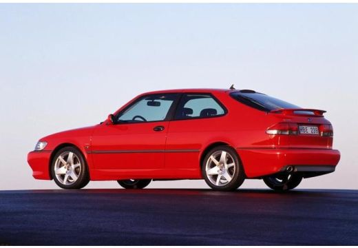 SAAB 9-3 I hatchback czerwony jasny tylny lewy