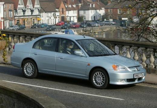 HONDA Civic IV sedan silver grey przedni prawy