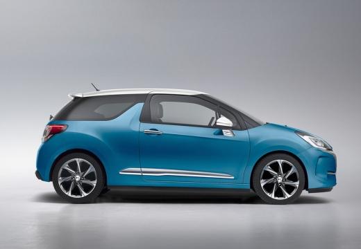 CITROEN DS3 II hatchback niebieski jasny boczny prawy
