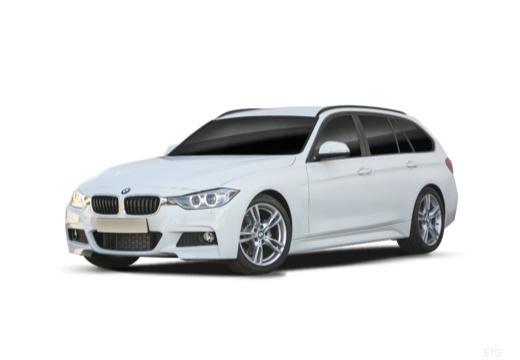 BMW Seria 3 Touring F31 I kombi biały przedni lewy