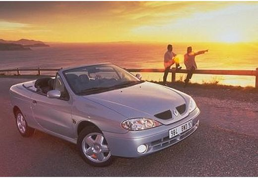 RENAULT Megane Cabrio II kabriolet silver grey przedni prawy
