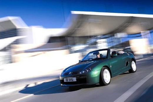 MG TF I roadster zielony przedni lewy