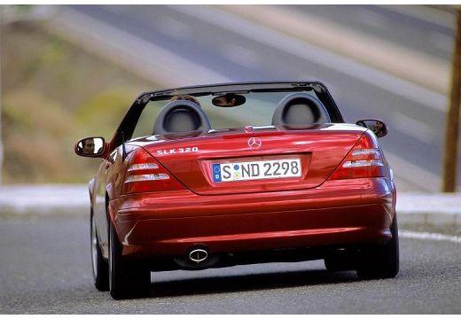 MERCEDES-BENZ Klasa SLK SLK R 170 kabriolet bordeaux (czerwony ciemny) tylny