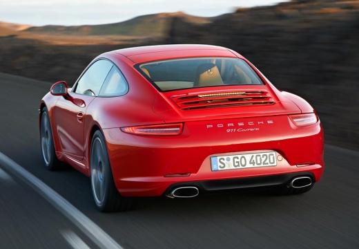PORSCHE 911 991 I coupe czerwony jasny tylny lewy