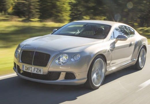 BENTLEY Continental coupe silver grey przedni lewy