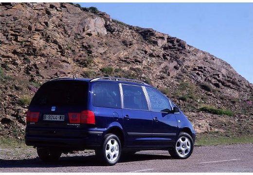 SEAT Alhambra II van czarny tylny prawy