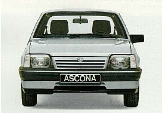 OPEL Ascona C sedan silver grey przedni