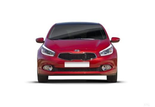 KIA Ceed III hatchback czerwony jasny przedni