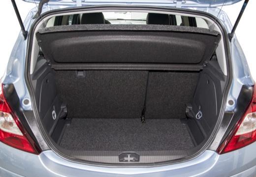 OPEL Corsa D II hatchback niebieski jasny przestrzeń załadunkowa