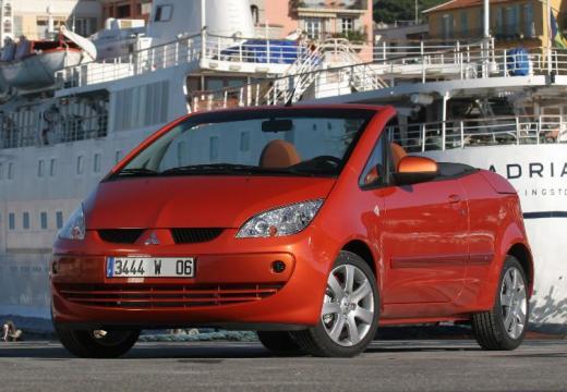MITSUBISHI Colt kabriolet pomarańczowy przedni lewy