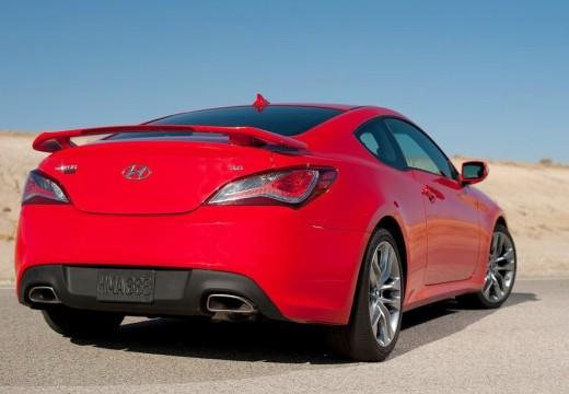 HYUNDAI Genesis II coupe czerwony jasny tylny prawy