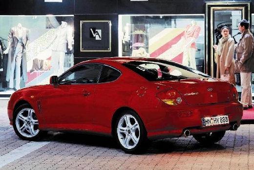 HYUNDAI Coupe III coupe czerwony jasny tylny lewy