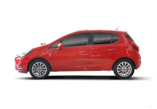 OPEL Corsa E hatchback czerwony jasny boczny lewy