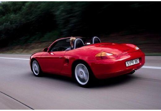 PORSCHE Boxster 986 roadster czerwony jasny tylny lewy