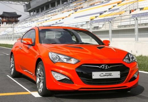 HYUNDAI Genesis coupe czerwony jasny przedni prawy