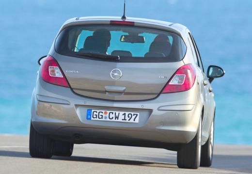 OPEL Corsa D II hatchback silver grey tylny prawy