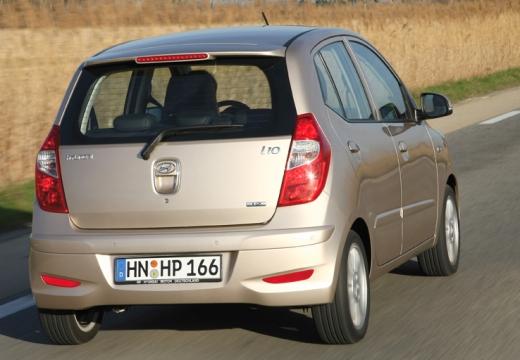 HYUNDAI i10 II hatchback silver grey tylny prawy
