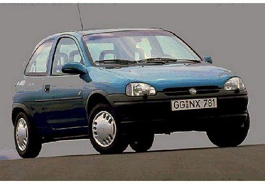 OPEL Corsa B hatchback zielony jasny przedni prawy