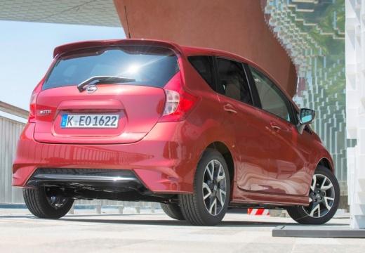 NISSAN Note hatchback czerwony jasny tylny prawy