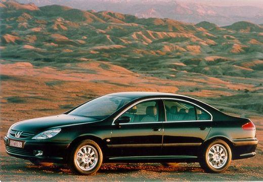 PEUGEOT 607 I sedan czarny przedni lewy