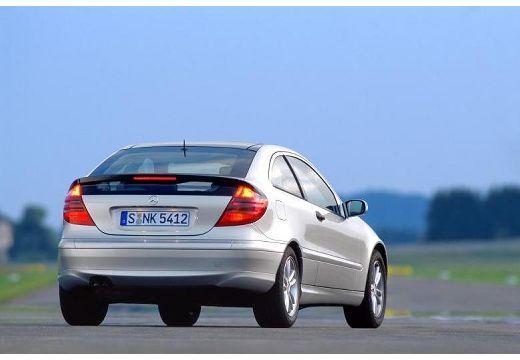 MERCEDES-BENZ Klasa C Sport CL203 I coupe silver grey tylny prawy