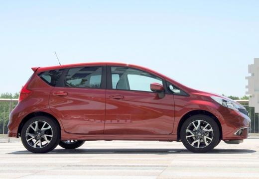 NISSAN Note hatchback czerwony jasny boczny prawy