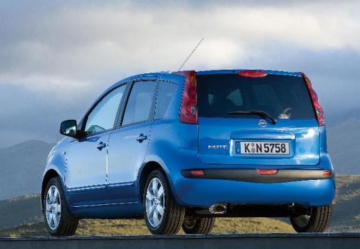 NISSAN Note hatchback niebieski jasny tylny lewy