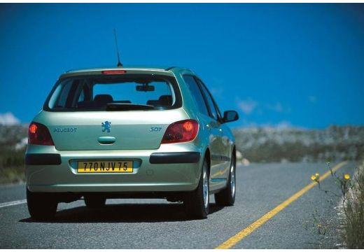 PEUGEOT 307 I hatchback zielony jasny tylny prawy