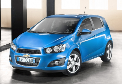 CHEVROLET Aveo hatchback niebieski jasny przedni lewy