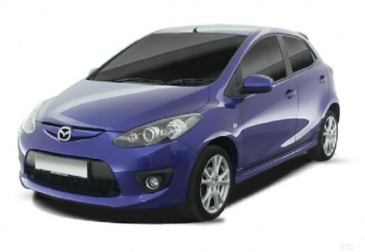 MAZDA 2 II hatchback niebieski jasny