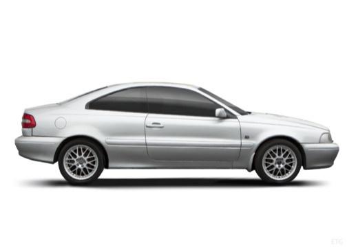 VOLVO C70 coupe silver grey boczny prawy