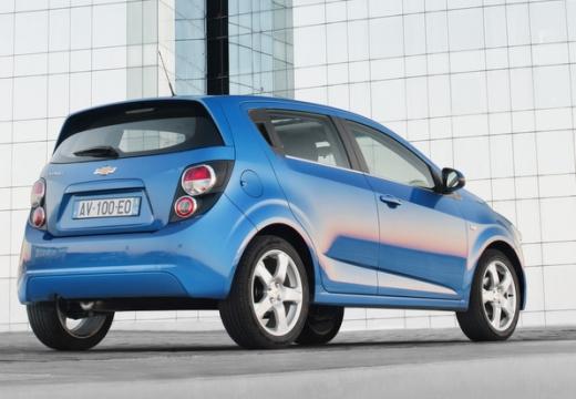CHEVROLET Aveo hatchback niebieski jasny tylny prawy