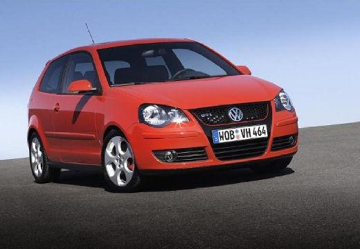 VOLKSWAGEN Polo IV II hatchback czerwony jasny przedni prawy