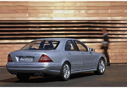 MERCEDES-BENZ Klasa S W 220 II sedan silver grey tylny prawy