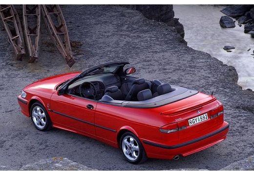 SAAB 9-3 kabriolet czerwony jasny tylny lewy