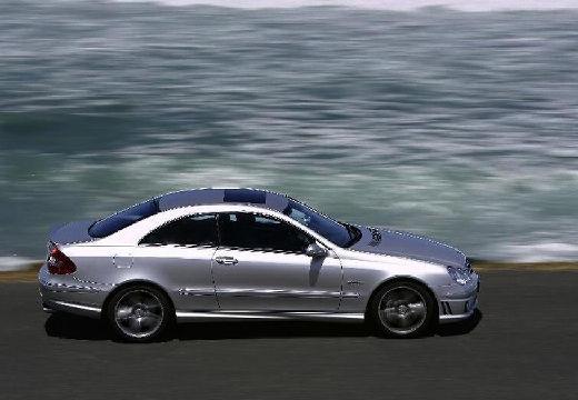 MERCEDES-BENZ Klasa CLK coupe silver grey boczny prawy