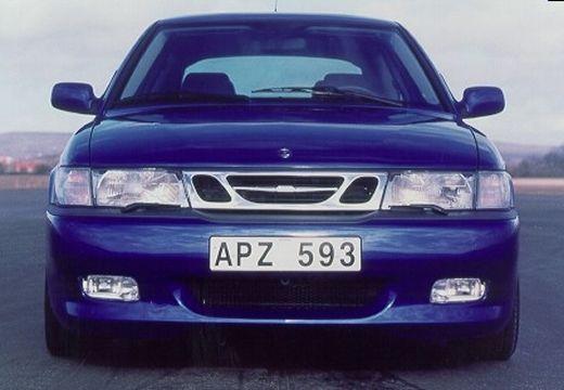 SAAB 9-3 I hatchback niebieski jasny przedni