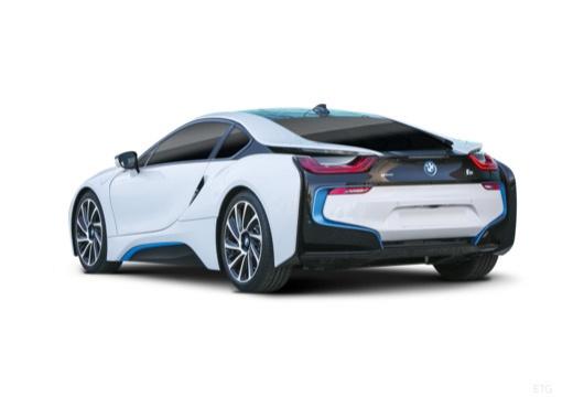 BMW i8 coupe biały tylny lewy