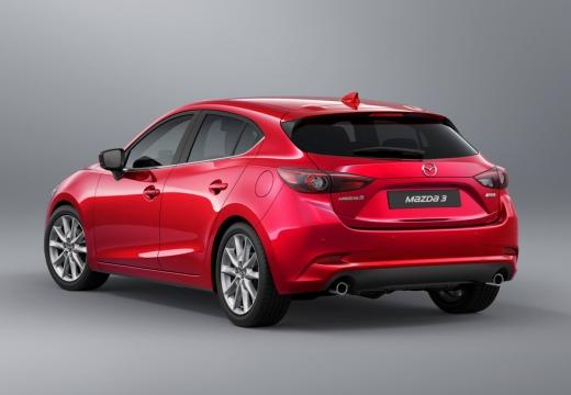 MAZDA 3 V hatchback czerwony jasny tylny lewy
