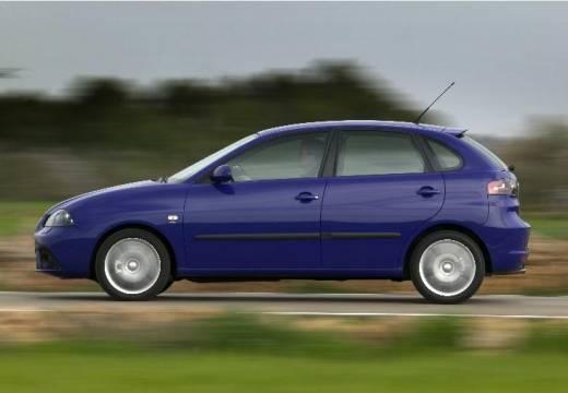 SEAT Ibiza IV hatchback niebieski jasny boczny lewy
