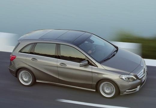 MERCEDES-BENZ Klasa B III hatchback silver grey przedni prawy