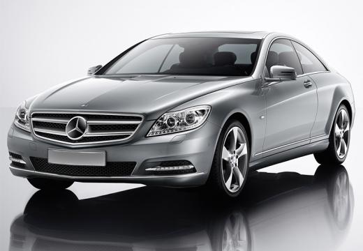 MERCEDES-BENZ Klasa CL coupe silver grey