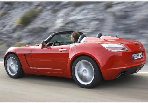 OPEL GT roadster czerwony jasny tylny lewy